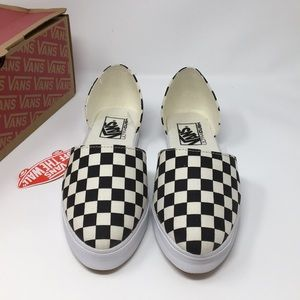 e3e3b858b467ac Vans Shoes - VANS Black Checkered Slip On skimmer Size 6.5 8.0